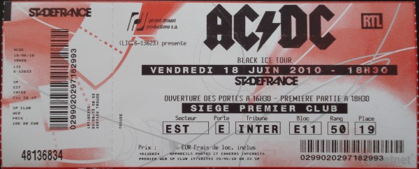 AC/DC – Stade de France 2010