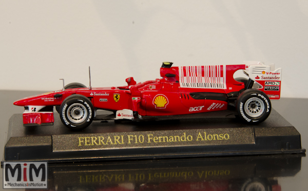 Hachette GT Collection Ferrari F10 Fernando Alonso
