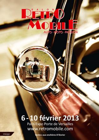 Affiche Rétromobile 2013
