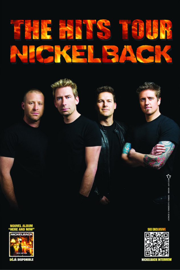 Nickelback the hit tour Paris Bercy 2013