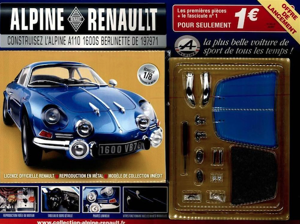 Alpine Renault A110 1600S berlinette 1/8 - Fascicule 1