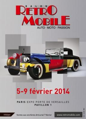 Affiche salon Retromobile 2014