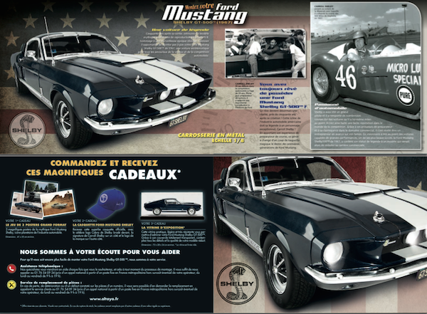 maquette voiture Ford Mustang Shelby GT500 Altaya au 1:8