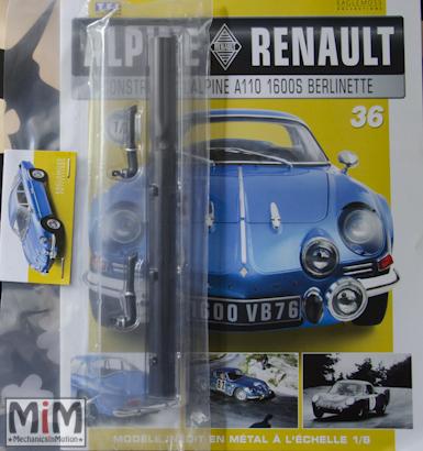 Alpine Renault A110 1600S berlinette - Fascicule 36