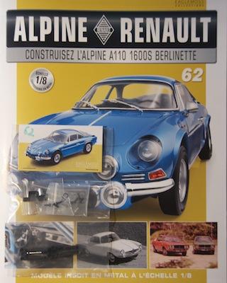 Alpine Renault A110 1600S berlinette - Fascicule 62
