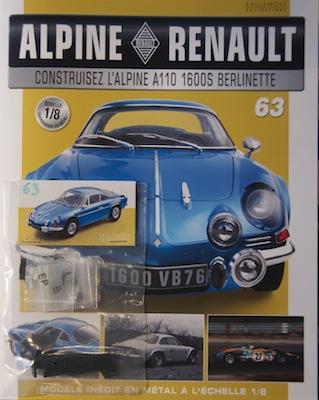 Alpine Renault A110 1600S berlinette - Fascicule 63