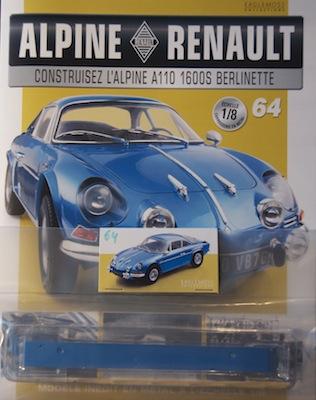 Alpine Renault A110 1600S berlinette - Fascicule 64