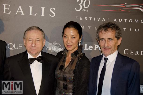 Jean Todt, l'actrice Michelle Yeoh (son épouse), Alain Prost