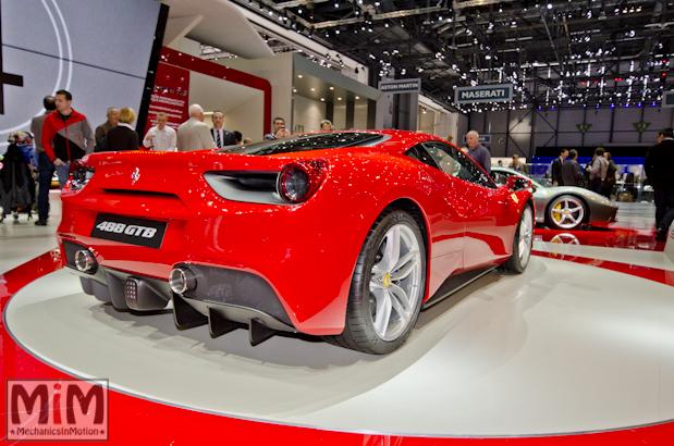 Ferrari 488 GTB Rosso Salon de Genève 2015-2