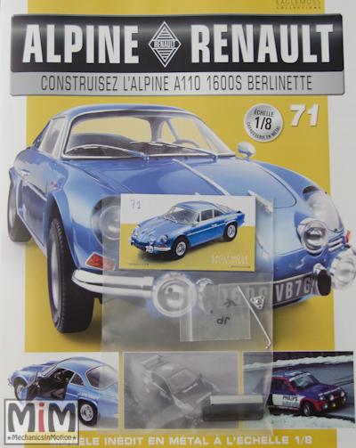 Alpine Renault A110 1600S berlinette - Fascicule 71