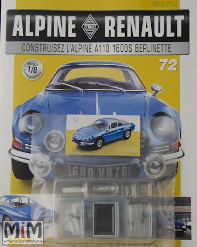 Alpine Renault A110 1600S berlinette - Fascicule 72