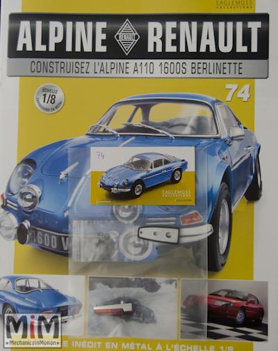 Alpine Renault A110 1600S berlinette - Fascicule 74