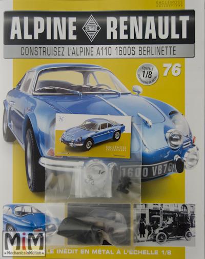 Alpine Renault A110 1600S berlinette - Fascicule 76