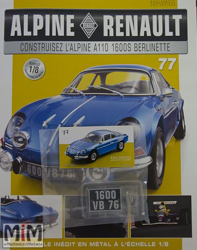 Alpine Renault A110 1600S berlinette - Fascicule 77