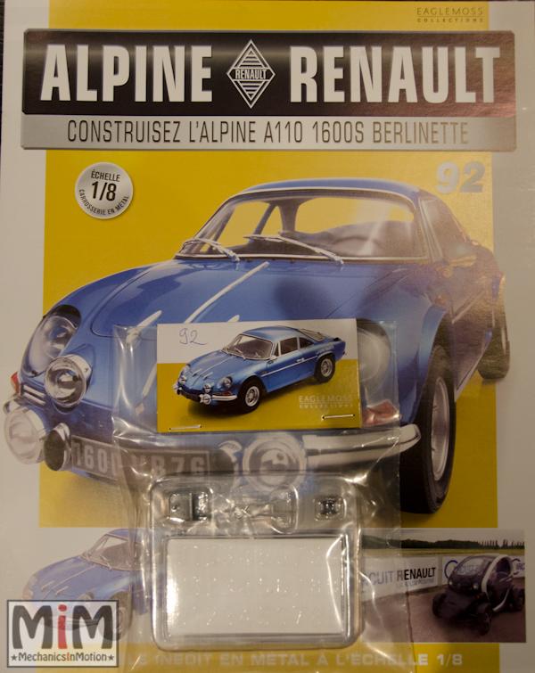 Alpine Renault A110 1600S berlinette - Fascicule 92