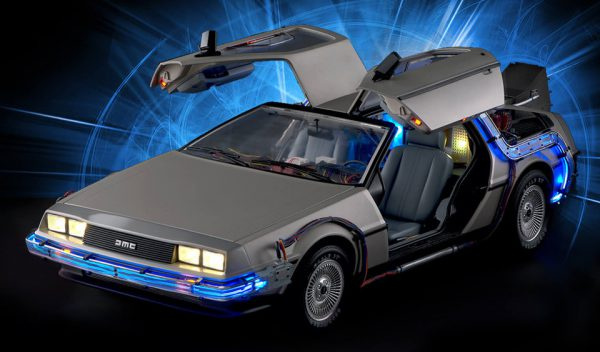 delorean retour vers le futur au 1 8 par eaglemoss. Black Bedroom Furniture Sets. Home Design Ideas