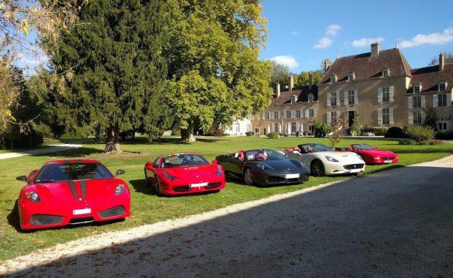 Rallye touristique en Ferrari – Bourgogne 2017